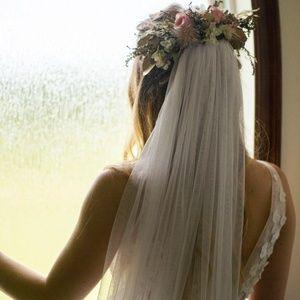 NEW Wedding Veil Long Soft Ivory White Handmade